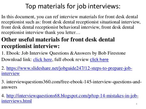 front desk interview questions top 10 front desk dental receptionist interview questions