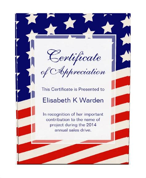Certificate Of Appreciation Template 24 Free Word Pdf Psd Vector Ai Format Download Flag Certificate Template
