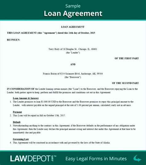 loan agreement template free free family loan agreement template uk template