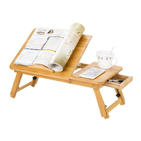 table for bed portable bamboo laptop stand foldable desk notebook table