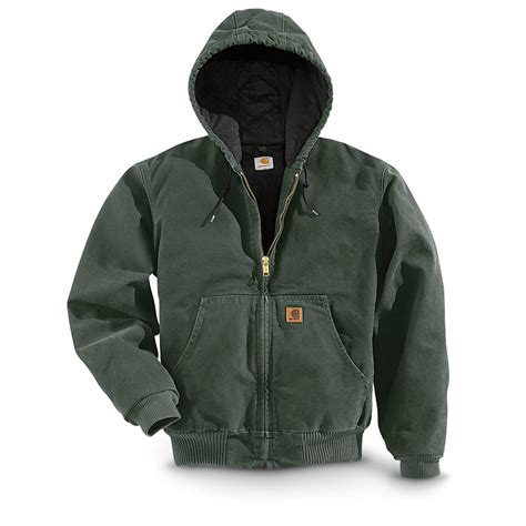 Carhartt Quilted Flannel Lined Duck Active Jacket by Carhartt 174 Quilted Flannel Lined Duck Active Jacket