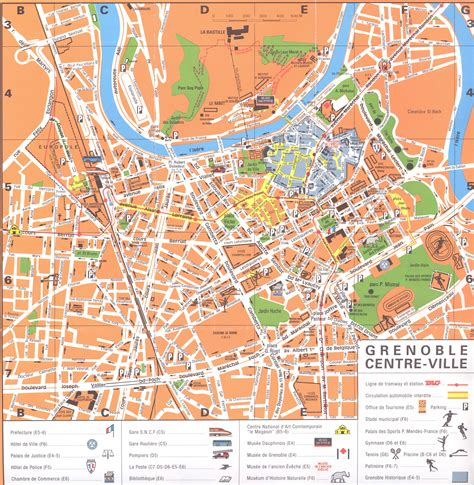 map of grenoble grenoble map world map