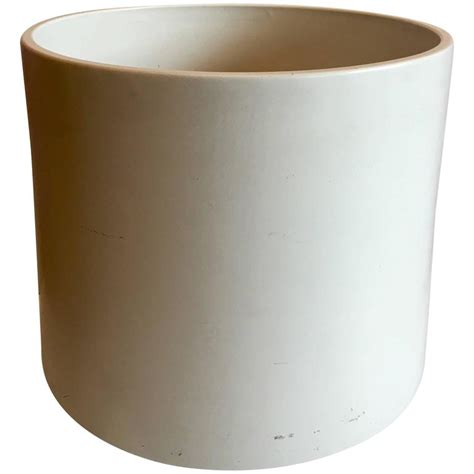 large white ceramic planter x large white ceramic architectural planter by gainey of california at 1stdibs