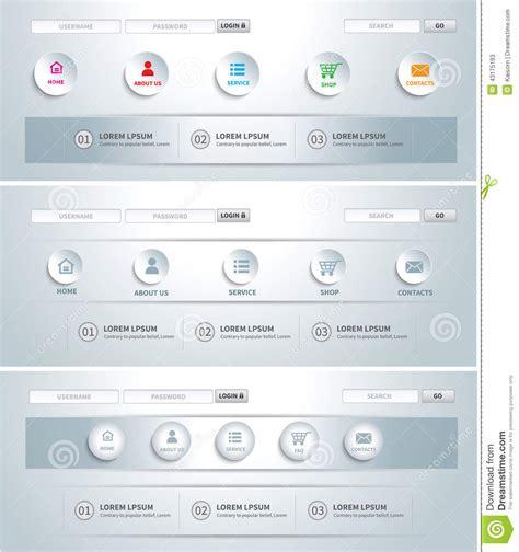 navigation menu templates web site template stock vector image 43175193