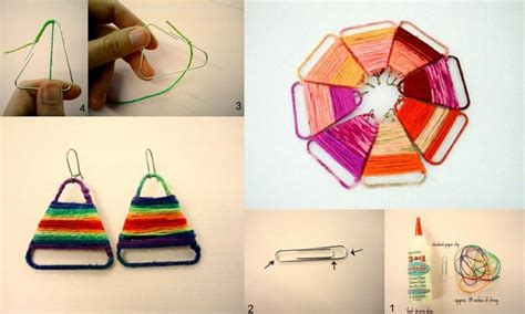 Paper Clip Craft Ideas - diy paper clip earrings diy projects usefuldiy