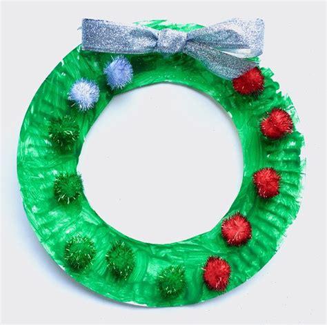 Paper Plate Wreath Crafts - paper plate wreath craft raising arizona