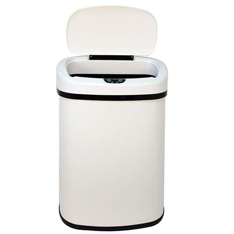 touchless kitchen trash can new 13 gallon touch free sensor automatic touchless trash can kitchen office ebay