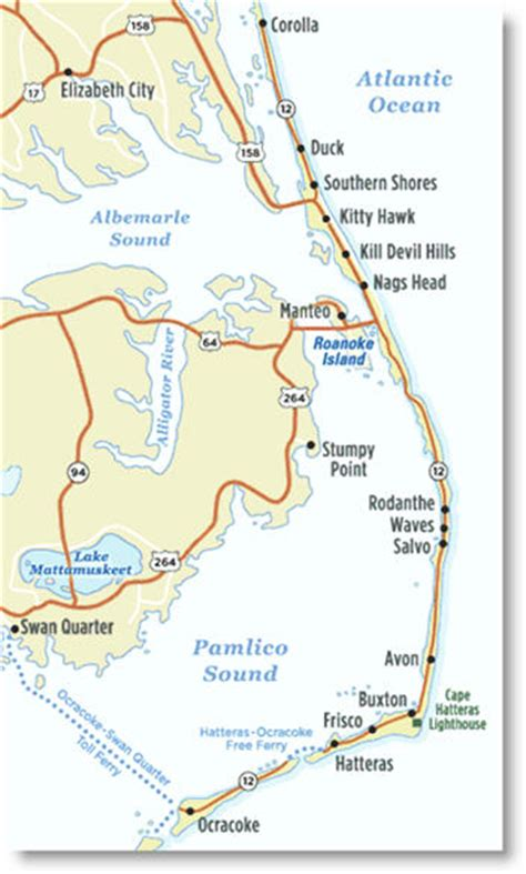 map of outer banks 29 creative map carolina outer banks afputra