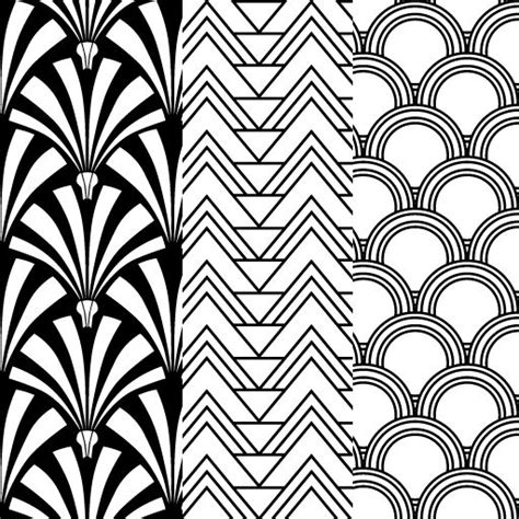 printable art deco designs art nouveau patterns black collection 16 wallpapers