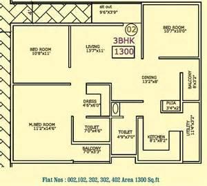 2 Bedroom Flat Floor Plan by Floor Plan Vaastu Hill View At Rr Nagar Bangalore