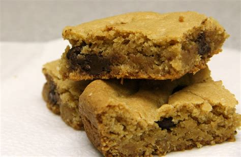peanut butter bars with chocolate chips melted on top chocolate chip peanut butter bars amy s healthy baking