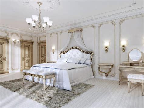 da letto lussuosa da letto lussuosa nei colori bianchi in uno stile