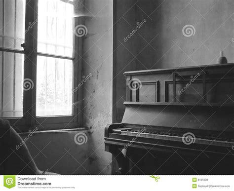 room   piano  black  white stock photo image