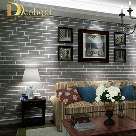 bedroom livingroom modern brown grey white black brick wallpaper for walls 3