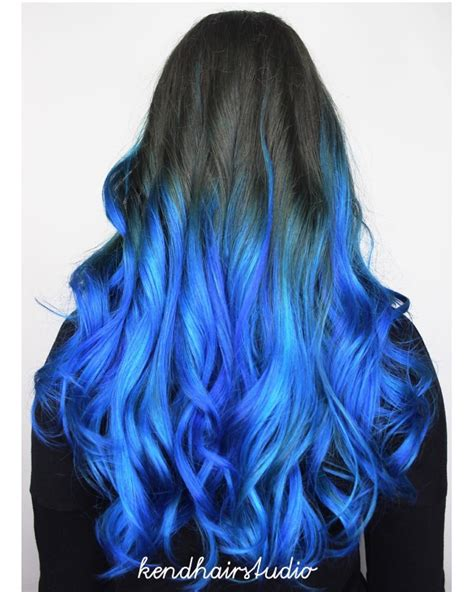 colored ombre blue ombre hair color light and shades 2017