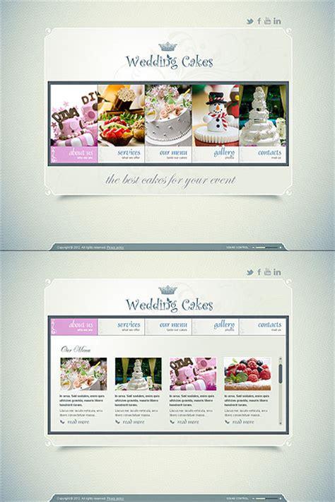 wedding cake websites wedding cakes html5 template best website templates