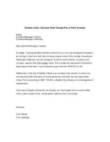 Letter Increase Of Rent Rent Increase Letter Template Ossaba