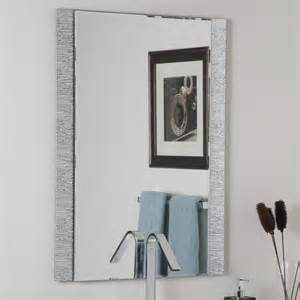 frameless bathroom wall mirror decor ssm5039 frameless molten wall mirror lowe s canada