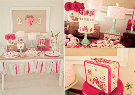 vintage themed birthday party kara s party ideas vintage strawberry shortcake girl