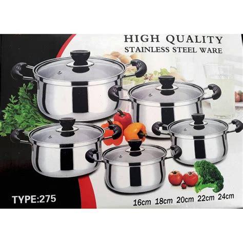 Nagako 5 Set Panci Tutup panci masak set 4 panci 4 tutup daftar harga terbaru