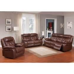 rivallo 3 top grain leather power reclining sofa set
