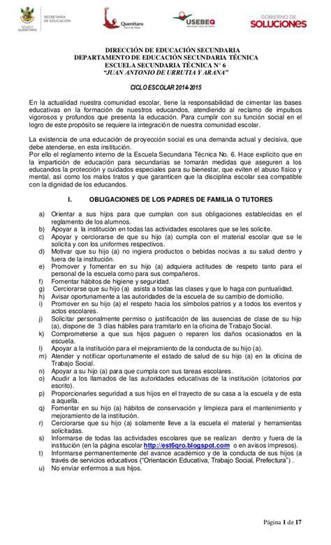 reglamento interno de escuelas preparatorias oficiales 2 reglamento escolar est 6 14 15