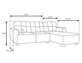 sectional sofa dimensions mhl 0069 st l shaped sofa furniture manila