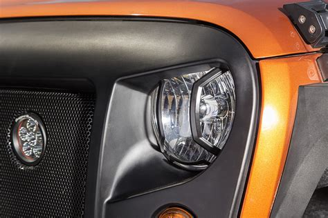 rugged ridge headlight guards rugged ridge elite headlight guards for 07 17 jeep wrangler jk quadratec