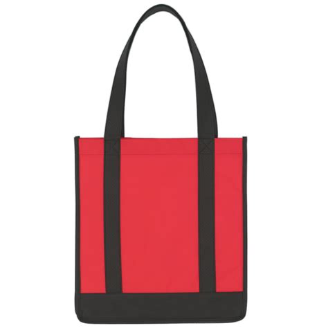 non woven two tone shopper tote bag 12 quot x 13 quot custom