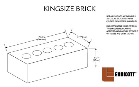 what is the size of a king size bed endicott face brick sizes