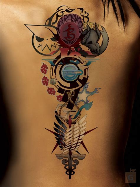 anime tattoos 25 best ideas about anime tattoos on studio