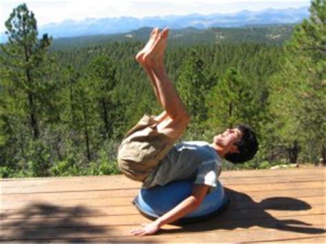 boat pose bosu bosu balance trainer for core strength training 2