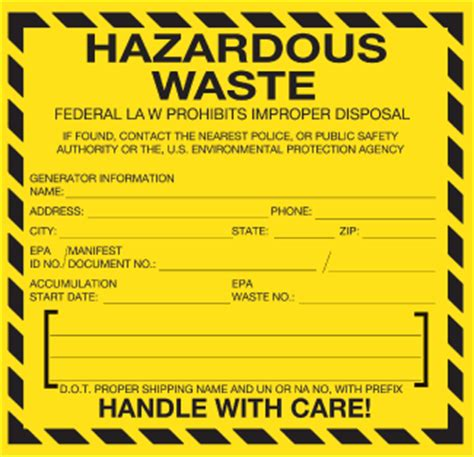 Hazardous Waste Labels Stickers Icc Compliance Center Free Hazardous Waste Label Template