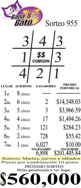 resultados gana cerca de ti resultado gana gato no 955 08 de diciembre del 2012