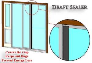 Drafty Patio Door Draft Sealer For Sliding Glass Doors Bug Protection Weather Seal