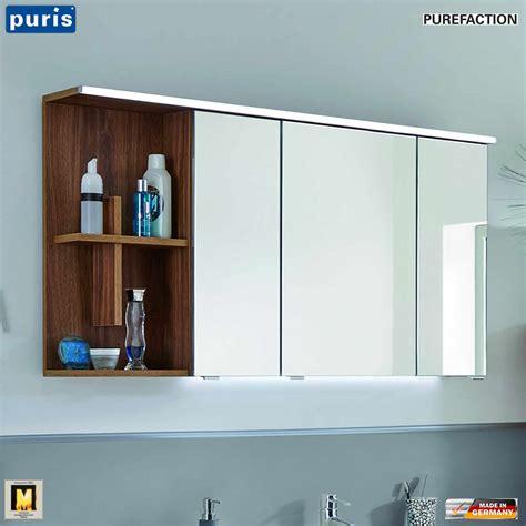 spiegelschrank puris puris purefaction led spiegelschrank 120 cm regal mit