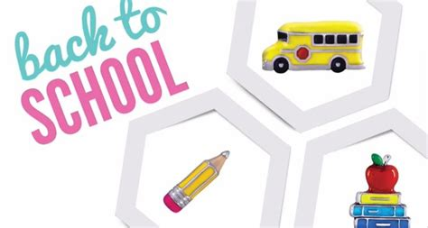 Back To School Origami - back to school charms including a pencil and books