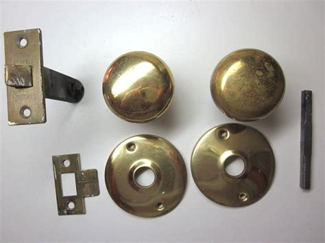 Brass Door Knobs With Backplate by 1 Antique Large Lockwood Brass Door Knob Rosettes