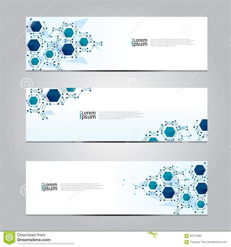 design technology banner vector design banner network technology medical background