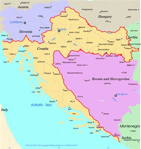 croatia map croatian map of croatia physical map of croatia