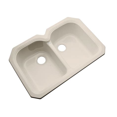 acrylic undermount kitchen sinks thermocast hartford undermount acrylic 33 in double bowl