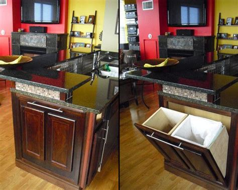 kitchen trash can ideas we definitely want a trash can and recycling container renovation