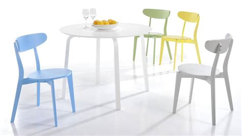 Colourful kitchen chairs bright painted wood only 163 45 uk