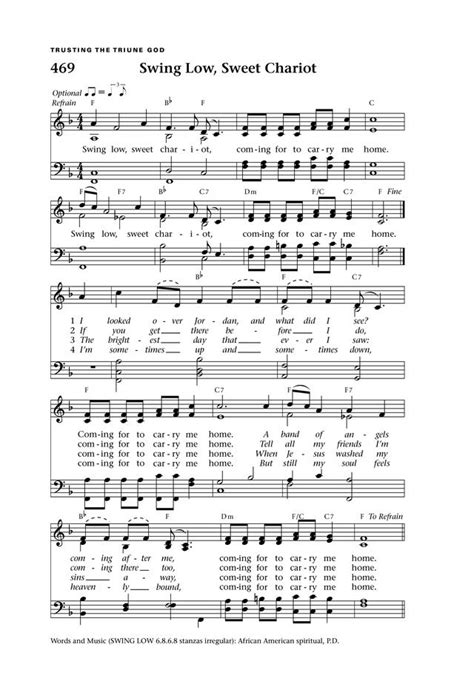 swing low sweet chariot lyrics 2962 best images about christian song lyrics on