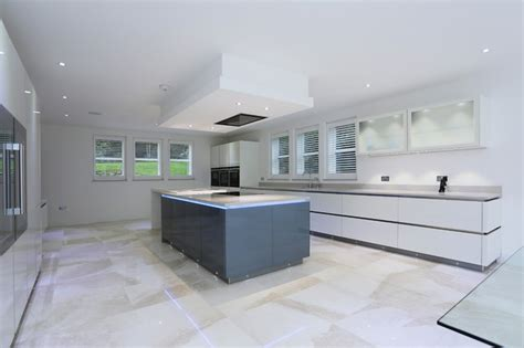 island ceiling extractor contemporary kitchen london