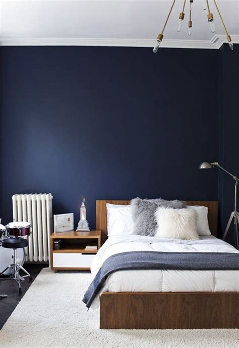 blue wall bedroom navy dark blue bedroom design ideas pictures