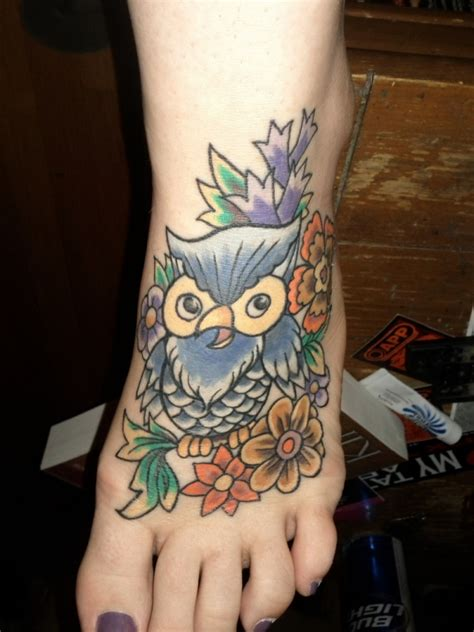 owl tattoo designs for foot 20 awesome owl tattoo designs