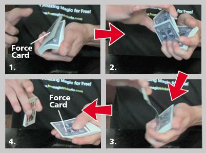 easy magic card tricks the riffle force