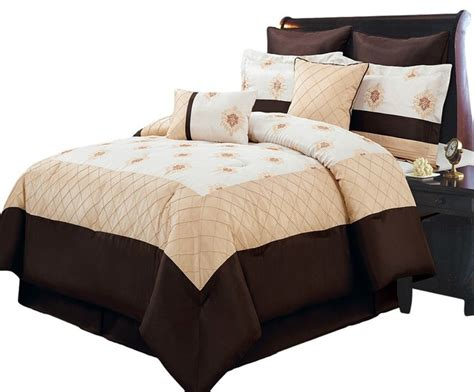 california king bed in a bag madison gold 12 piece bed in a bag california king