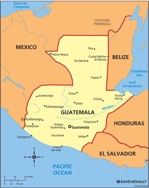 where is guatemala on the map guatemala politische karte